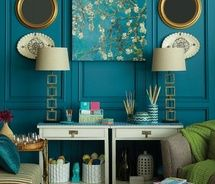 blue paneling