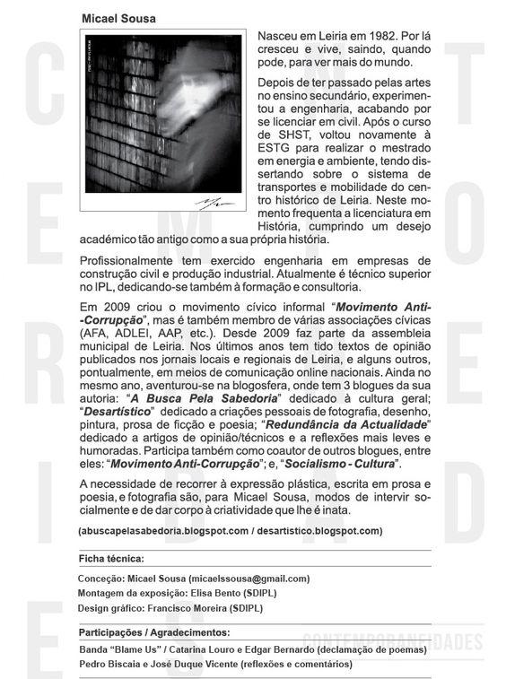 Biografia utilizada no projeto CONTEMPORANEIDADES