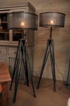 More Click Industrial Floor Lamp Rust Industrial Style Lamps