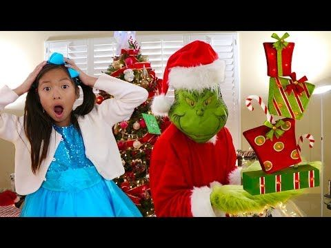 Wendy Pretend Play How The Grinch Stole Christmas Presents Funny Kids Story Youtube Funny Stories For Kids Stories For Kids Grinch Stole Christmas