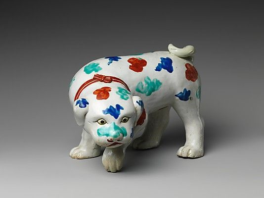 Dog | late 17th century | Japan | The Metropolitan Museum of Art, New York | The Harry G. C. Packard Collection of Asian Art, Gift of Harry G. C. Packard, and Purchase, Fletcher, Rogers, Harris Brisbane Dick, and Louis V. Bell Funds, Joseph Pulitzer Bequest, and The Annenberg Fund Inc. Gift, 1975 | 1975.268.529 #dogs