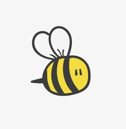 Cute Bee Mini Bee Cartoon Vector Bee Vector Cartoon Clipart Bee Clipart Cartoon Bee Bee Painting Bee Drawing