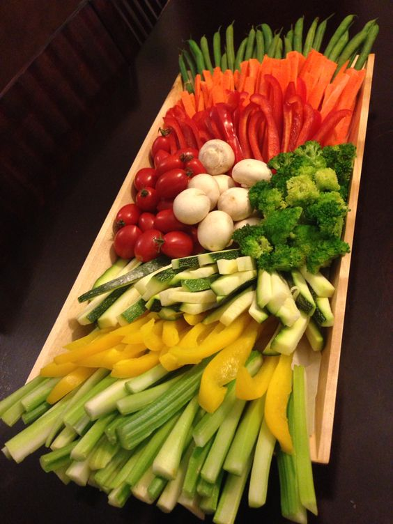 Chopped Salad Vegetable Display