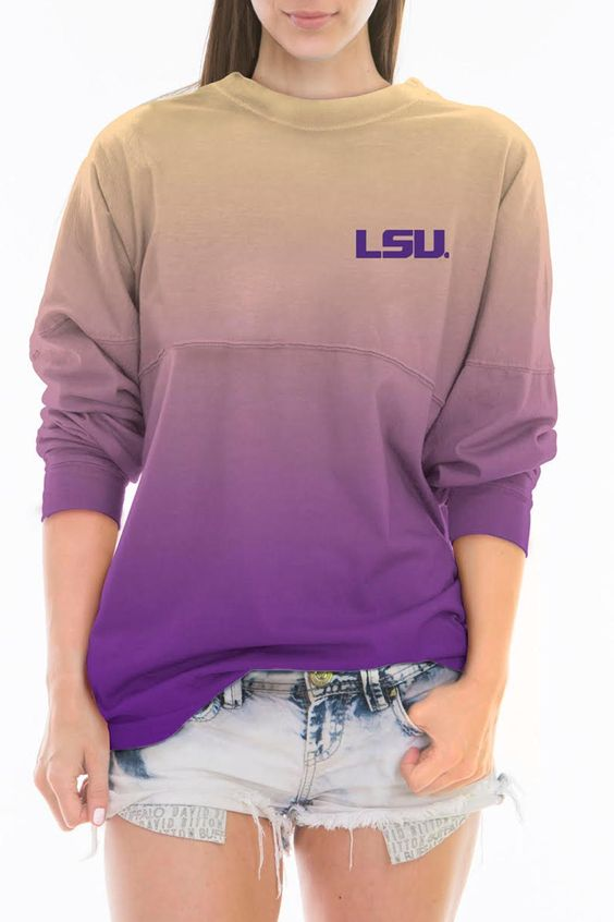 LSU Tigers Ombre Jersey   Lsu Ombre Jersey Clothing - Tops - Long Sleeve Louisiana