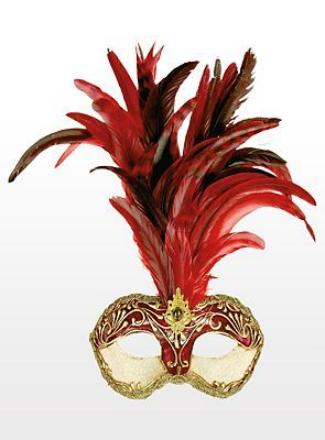 Red/Gold Feathermask