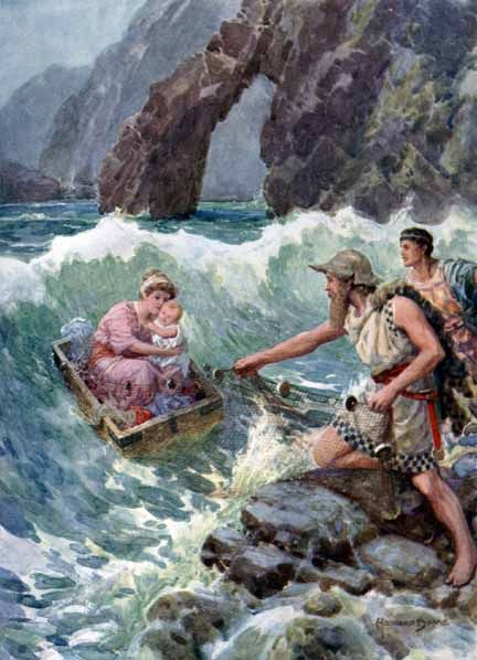 Howard Davie - Danae and Perseus by fishermen at Seriphus ...