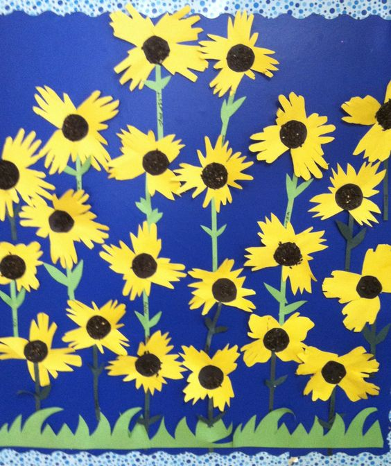 Sunflower Bulletin Board - another great hand tracing project.