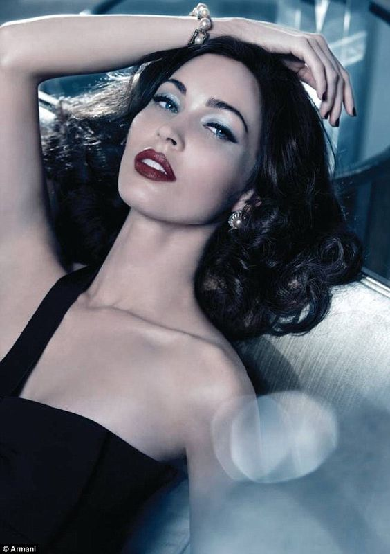 Hollywood glamour: Megan Fox oozes old school sex appeal as she poses for Armani's Christmas collection campaign
