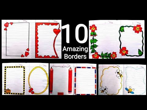 10 Beautiful Borders For Projects Handmade Simple Border Designs Notebook Border Designs Rulle Page Borders Design Colorful Borders Design Borders For Paper
