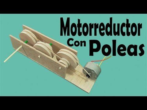 Como Fazer Um Moto Redutor Redução Com Polias Invenções Caseiras Carrinho De Madeira Polia