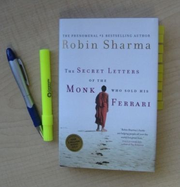 I love how Robin is able to wrap wonderful life lessons and reminders in such a great story in The Secret Letters of The Monk Who Sold His Ferrari.