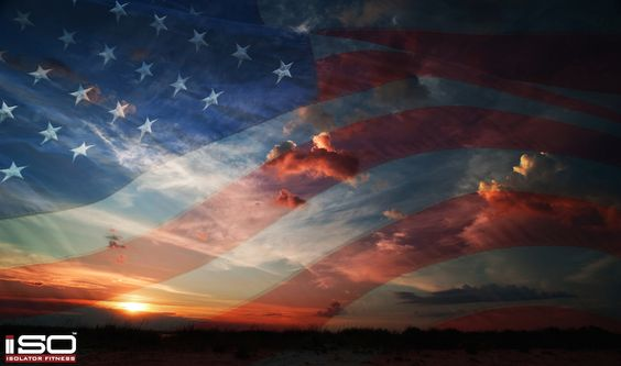 American Flag Sunset Background Click To Download