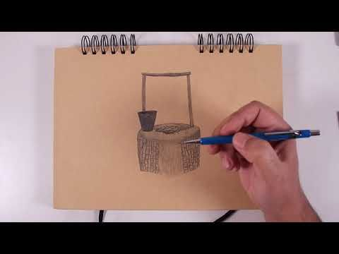 How To Draw A Well And A Bucket Drawings I Am Awesome Draw
