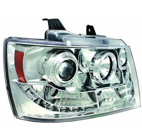 MADE IN USA IPCW Projector Head lights in choice of chrome or black. fits-2007-2014-chevy-avalanche-suburban-tahoe