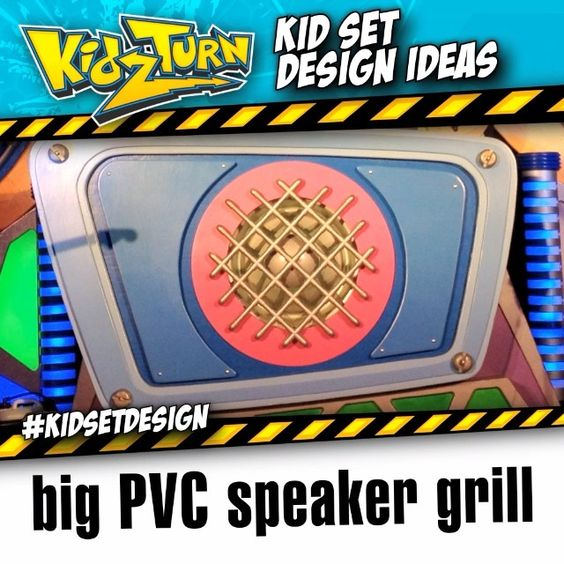 make a big PVC speaker grill - this #kidsetdesign video comes from our 2011/2012 tour. This simple speaker grill was made using PVC crosses & elbows...  #kidsetdesign - #kidmin #kidschurch #vbs #kidsministry #kidsmin #childrensministry #stagedesign #setdesign #kidstagedesign