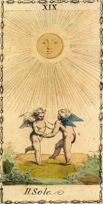 The Sun - Ancient Tarot of Lombardy: