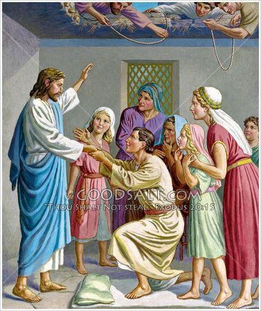 Jesus Heals The Palsied Man Matt 9 1 8 Mark 2 1 12 Luke 5