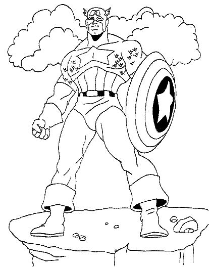 disney captain america coloring pages - photo#5