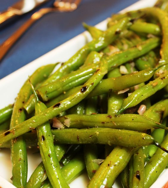 Grilled green beans, Green beans and Beans recipes on Pinterest