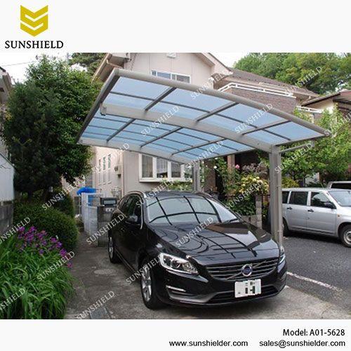 Single Aluminum Carport Garage Polycarbonate Carports Car Port Patio Outdoor Car Parking Sunshield Carpor House With Porch Parking Design Porch Design