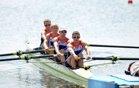 Peter Chambers, Rob Williams, Richard Chambers and Chris Bartley won a stunning silver medal in the LM4- at London 2012