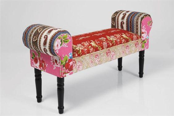 Kare Design Bank bank patchwork wing by kare design kare karedesign bench
