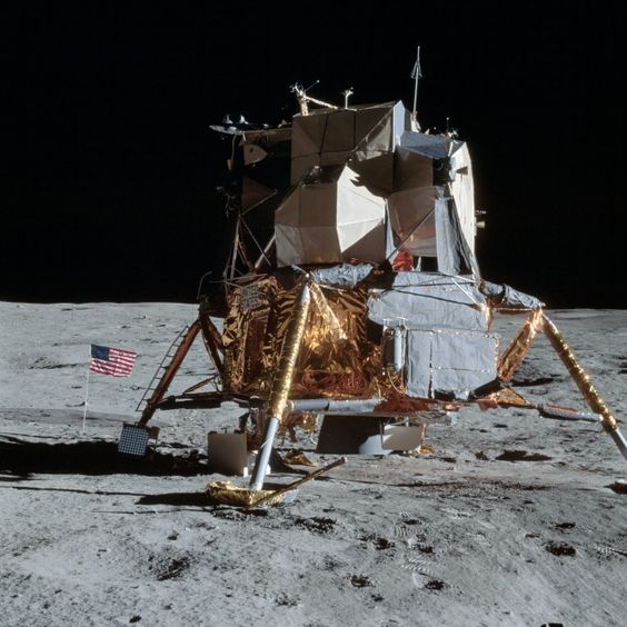 Apollo 14 - good view of the LM on the moon
