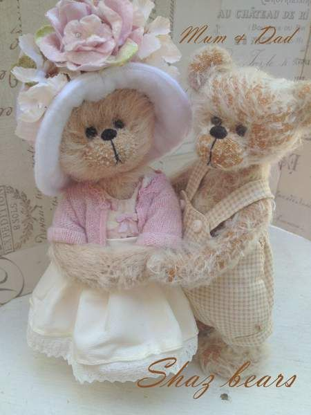 Mum and Dad by By Shaz bears | Bear Pile❤ ❤ ❤