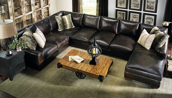 Furniture outlet Leather sectionals and Elegant designs