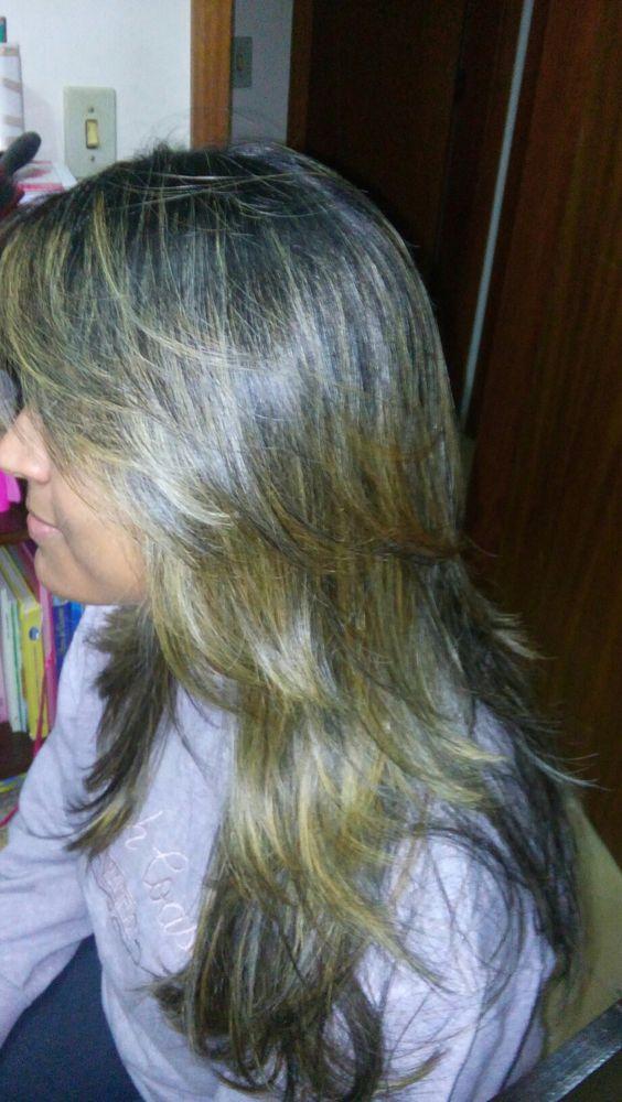 Corte repicado cabelo longo