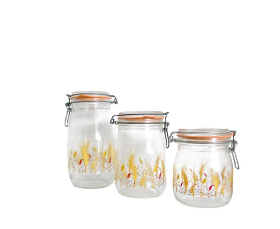 Vintage Kitchen Canisters French Glass Wheathouseofheirlooms Extraordinary Glass Kitchen Containers Decorating Inspiration