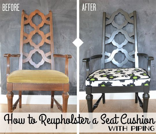 How To Reupholster A Seat Cushion With Piping Diyfurniturepallets