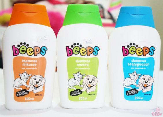 Resenha: Beeps Shampoo Filhotes, Neutro e Branqueador   Pet Society - Blog Lói Cúrcio