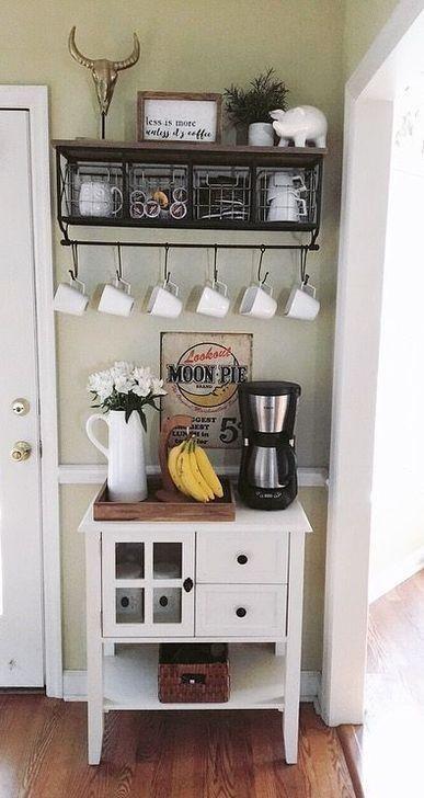 لعشاق القهوة افكار ركن القهوة والشاي في المنزل Coffee Corner زيزي كوم In 2020 Coffee Bar Home Coffee Bar Design Coffee Station Kitchen