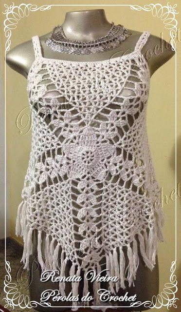 * Pйrolas do Crochet: Blusa em crochet modelo Gypsy com PAP