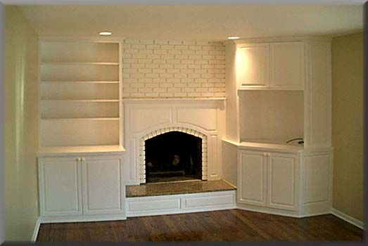 Fireplace with built ins and tv 2292d1202446549 for Built in place kitchen cabinets