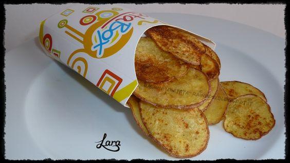 Chips di patate rosse al forno