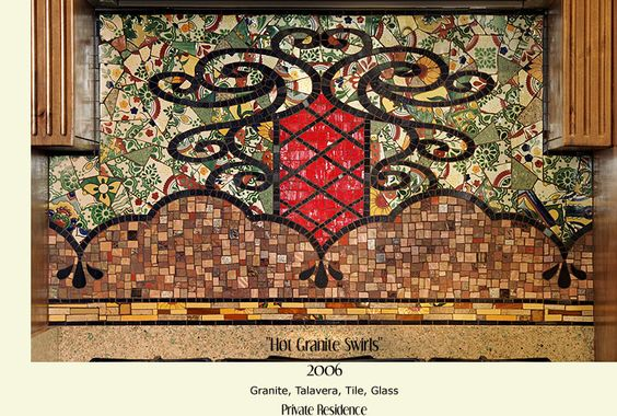 love this mosaic!  especially the floral designs in the background