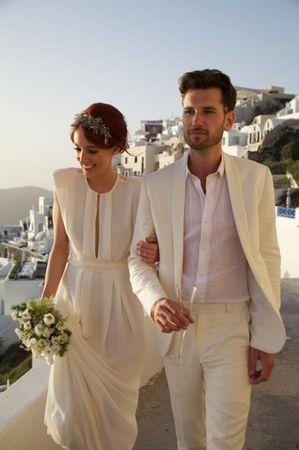 Das Brautpaar ganz in Weiß. #wedding #bridalcouple #white