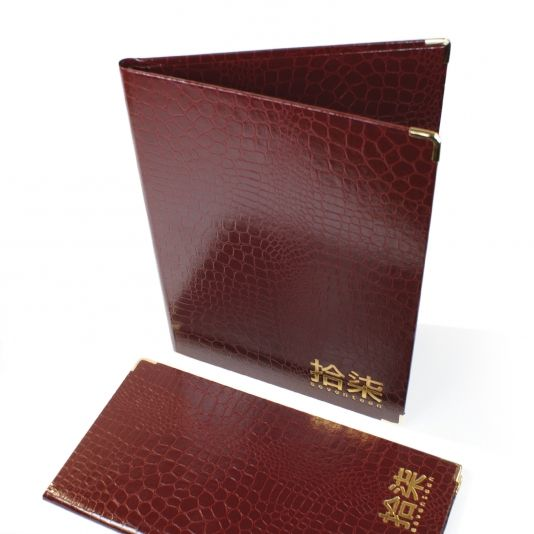 Croco Pellaq Menus Covers - The Smart Marketing Group - Hospitality. Chinese Restaurant menu presentation. Chinese Cuisine themed menu presentation products for hospitality.
