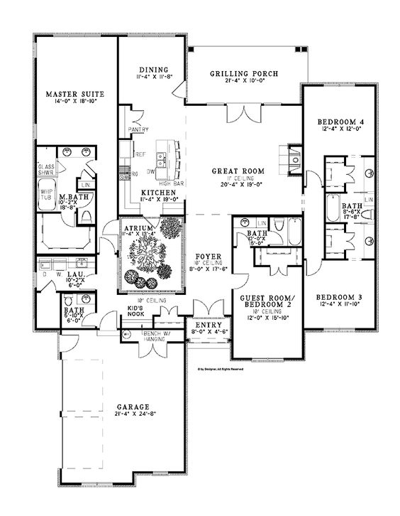 House plan hwbdo73360 central atrium gives natural light for Natural home plans