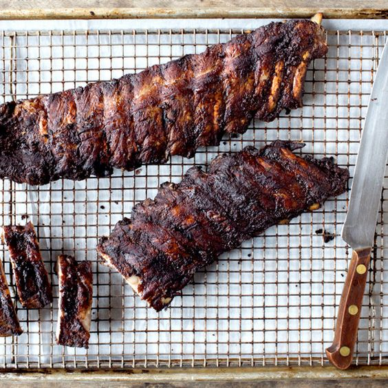 """Cocoa-Rubbed Baby Back Ribs"""