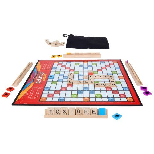 Scrabble Crossword Game with Power Tiles by Hasbro