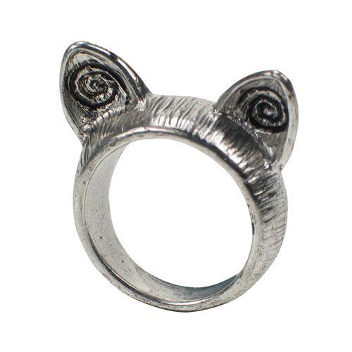 Jewelry - Harriet Grey - Silver Cat Ears Ring