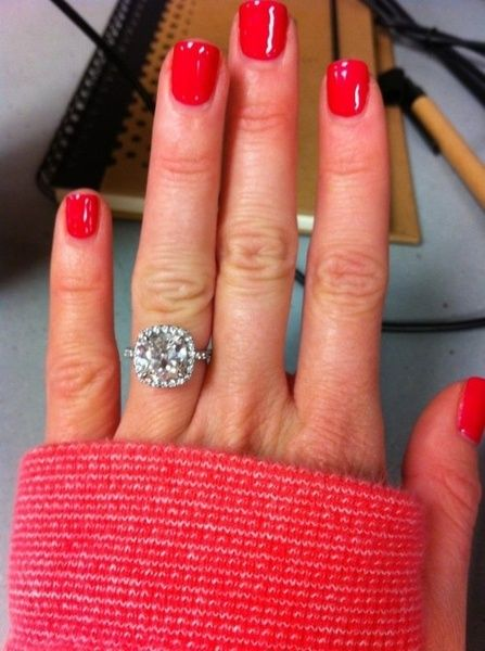 cushion cut w/halo....perfection: