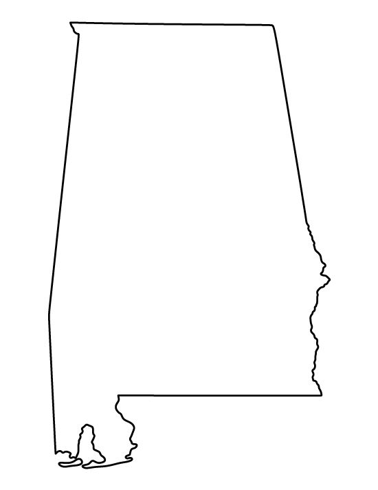 Alabama pattern. Use the printable outline for crafts, creating stencils, scrapbooking, and more. Free PDF template to download and print at http://patternuniverse.com/download/alabama-pattern/