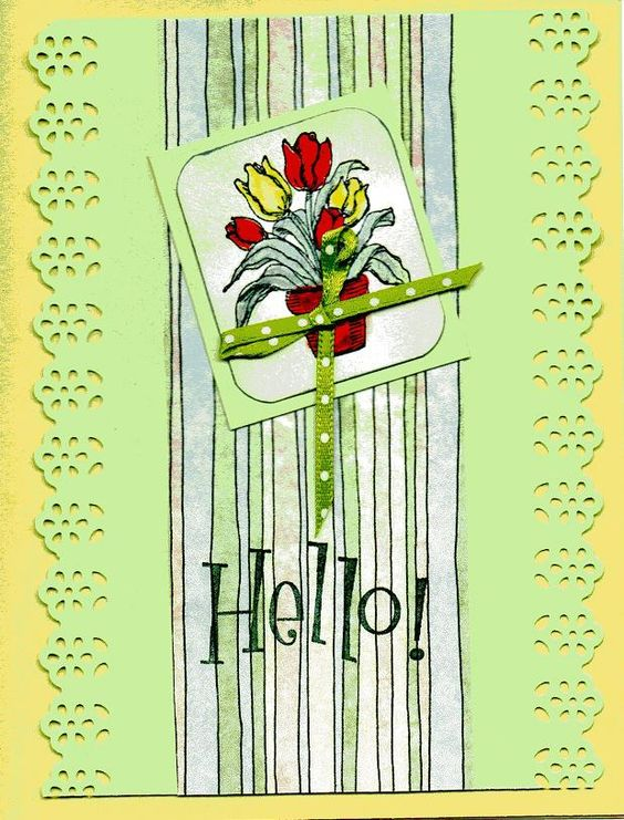 spring card for silver stampers.