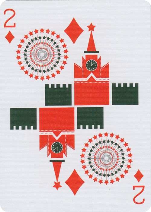 Russian Folk Art Playing Cards