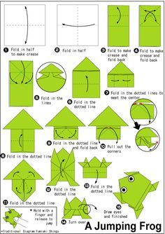 Cute origami frog instructions - http://www.ikuzoorigami.com/cute-origami-frog-instructions/