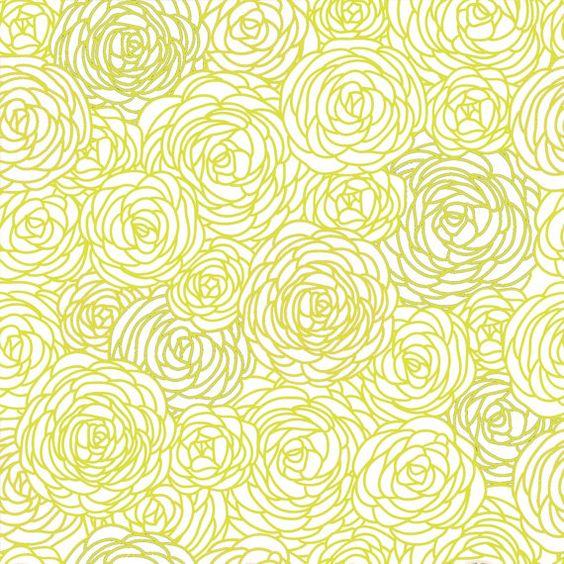 removable wallpaper blossom print citron green the o